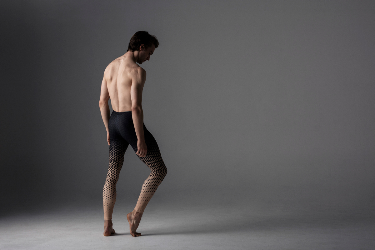 Matthew Ball in Keto Dancewear Men's Geometric Scatter Tights Royal Ballet www.ketodancewear.com
