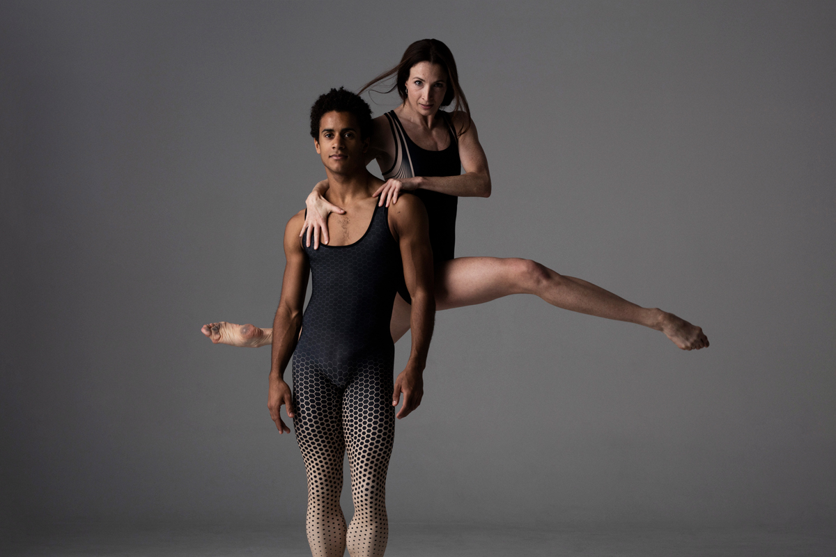 Lauren Cuthbertson and Marcelino Sambé In Keto Dancewear Swift Leotard and Geometric Scatter Unitard