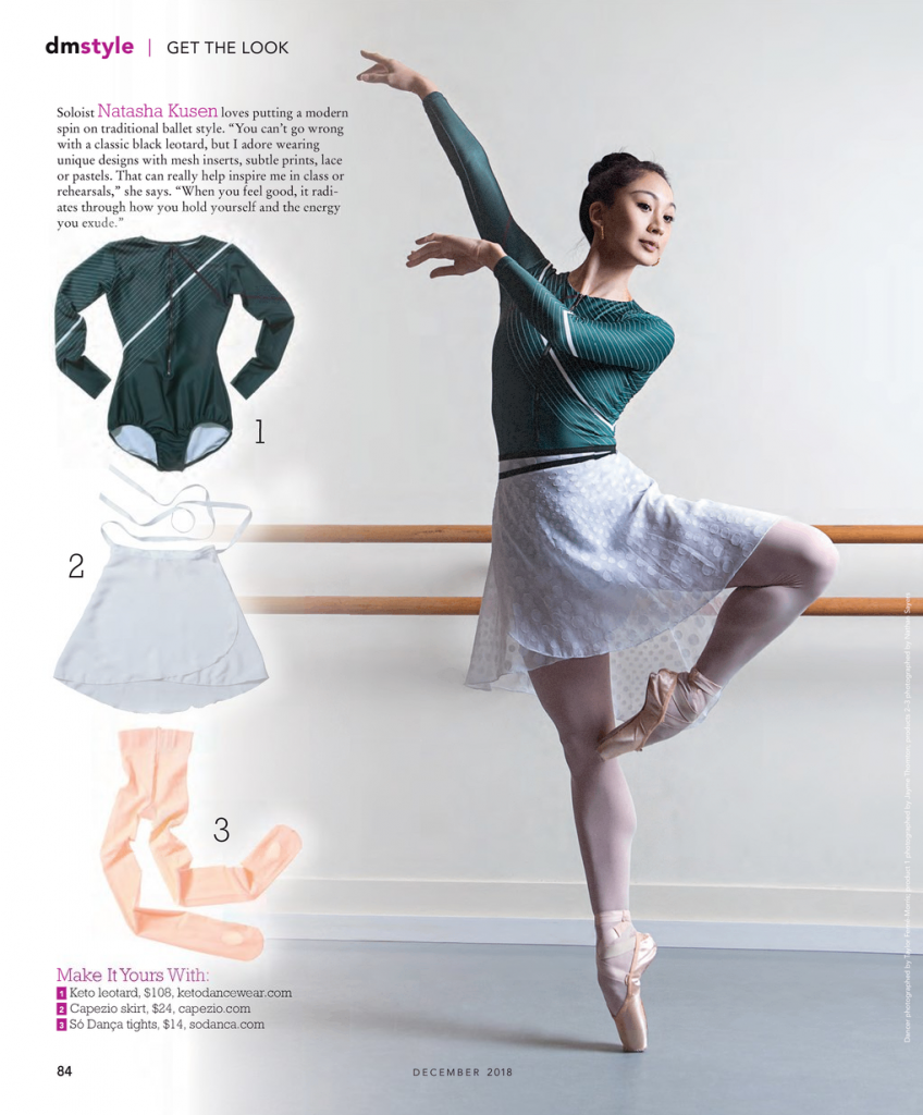 Keto Dancewear Leotard Dance Magazine Natasha Kusen Ballet Ballerina Bodysuit